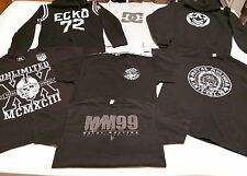 Men's Size L Metal Mulisha, ECKO, DC Shirts Lot Of 5 & 2 Hoodies !!