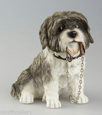 Grey & White SHIH TZU Dog Ornament Leonardo Resin Dogs Walkies Figurine Gift NEW