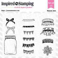 Inspired by Stamping Mason Jars Clear Stamp Set