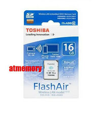 Genuine Toshiba 16GB 16G FlashAir SDHC SD Card Wifi Class 10 Wireless in Sydney