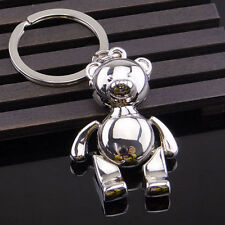 Cute Cartoon Rotate Head Activities Bear Metal Keychain Keyring Keyfob Key Ring