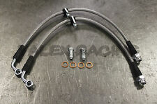 Stainless Steel SS Front Brake Line Replacement Kit 99-00 Honda Civic Si EM1
