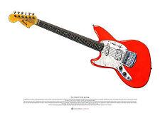 Kurt Cobain's Fender Jag-Stang ART POSTER A2 size