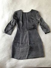 Mango Grey Shimmery Mini Dress UK8