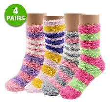 4-pairs: Griffin Sock Cozy Yarn Slipper Socks - Assorted