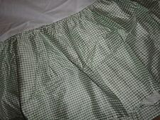 AMERICAN LIVING CONSTANCE GREEN CHECK GINGHAM TATTERSAL KING BEDSKIRT 15""
