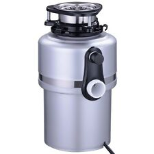 Garbage Disposal 1.0 HP Continuous Feed Home Kitchen Food Waste Silver 4200RPM