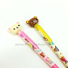 1x Cute Happy Rilakkuma Mechanical Pencil 0.5mm Stationery Pen School Supplies