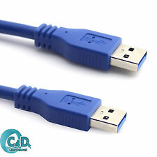 2M Meter USB 3.0 Data Transfer Cable Super Speed 5Gbps Male to Male Lead Blue