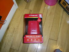 Polaroid Mini Wireless Speaker RED RECHARGEABLE PORTABLE BLUETOOTH $50