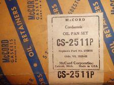 NOS McCord Gasket Oil Pan Set 575872 Oldsmobile 8 1949-1957 CS-2511P