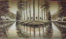 automn Britannico woodland foresta large lungo pittura a olio tela alberi art