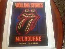 The Rolling Stones 14 on FIRE  Lithograph Poster Melbourne 11/5/14  1st Printing