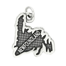 Sterling Silver Map of Newfoundland Charm