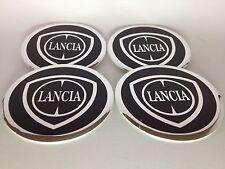Autocollant Sticker Centre de Roue Cache Moyeu Jante Alu pour LANCIA 4 x 60mm
