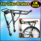 "ALLOY BIKE Bicycle DISC BRAKE REAR PANNIER RACK ADJUSTABLE FOR 24-28"" 25KG"