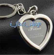 Personalised Gift To Lover Heart Photo Picture Insert Frame Keyring Keychain IF