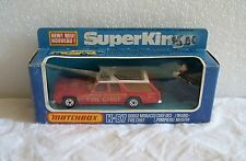 NIB 1978 MATCHBOX DIE-CAST SUPER KINGS FIRE CHIEF RED DODGE MONACO K-67 ~NEW~