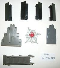 LEGO Old Dark Gray STAIR CASE  4784 6273 6270 Pirates Spider Web 2345 6083 Rock