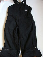 NWT Men's CRAFTSMAN Duck Bib Overall Size XL Insulated Black Cotton Work Pants