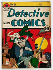 Detective Comics #49 (DC, 1941) VG/F  Clayface appearance. Batman & Robin cover