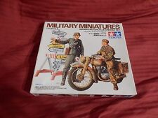 1/35 Tamiya German DKW NZ 350 Motorcycle Orderly Set w/ 2 Soldiers # 241 Open BX