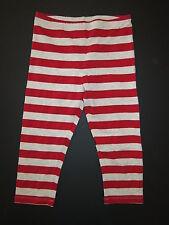 Paper wings Organic gray cream marl red stripe capri cropped leggings pant 12/10