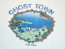 Vintage Ghost Town Fayette Michigan Tourist Soft Thin 80's 1987 T Shirt L