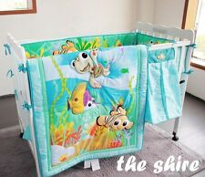 Baby Bedding Crib Cot Quilt Sheet Set-NEW 8pcs Quilt Bumper Sheet Dust Ruffle..
