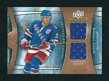 BRIAN LEETCH 2009-10 UD ARTIFACTS FROZEN ARTIFACTS DUAL GAME USED JERSEYS#/199