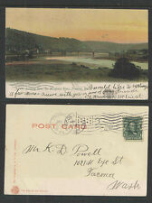 1907 LOOKING DOWN THE ALLEGHANY RIVER FRANKLIN PA UNDIVIDED BACK UDB POSTCARD