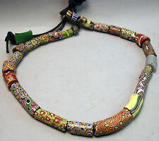 ORIGINAL TRADE BEADS JEWELRY GLASS CURRENCY MILLE FIORI NECKLACE VENETIAN ETHNIX