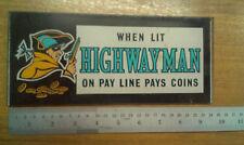 Highwayman Sega Genuino Top Flash Para Extractor Vintage Arcade un brazo Bandido