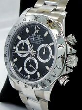 Rolex Daytona 116520 Cosmograph Chrono New Style Oyster Black Dial Watch *MINT*