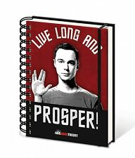 A5 Live Long And Prosper Notepad Ring Binder Pad Sheldon Big Bang Theory Gift