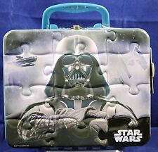 Disney Star Wars Darth Vader Embossed Tin Lunch Box with Puzzle c210