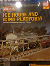 Walthers HO #933-3049 Icehouse and Platform -- Kit - Icehouse: 4-3/4 x 10-3/4 x