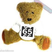 65th Birthday Novelty Gift Teddy Bear