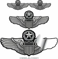 U.S. Air Force Command Pilot Wing Decals 4 Pack Special - AF3VW4PAK