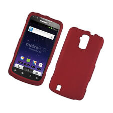 Sprint Boost Force N9100 Rubberized HARD Protector Snap On Phone Case Cover Red