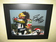 Valentino Rossi and Marco Simoncelli Signed Photo Repro-Print (8x10) Framed