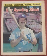 5-29-76 SPORTING NEWS LOS ANGELES DODGERS RON CEY BASEBALL