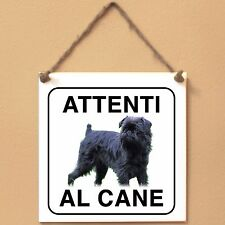 Griffone belga 4 Attenti al cane Targa cane cartello ceramic tiles