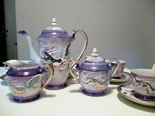 "Vintage ""MTK CHINA"" JAPAN 15 piece coffee set Porcelain   anni 40 handmade"