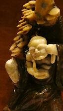 """ANTIQUE CHINESE JADE CARVED STATUE DEPICTS CHINESE LEGEND OF LADY WHITE SNAKE15"""""""