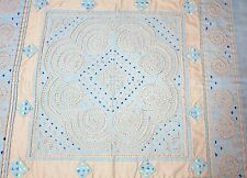 """HMONG EMBROIDERY & REVERSE QUILTING TABLE-TOPPER - 20"""" SQUARE"""
