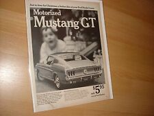 1967 magazine ad 1968 Ford Mustang GT motorized toy car Original 65 66