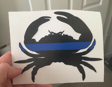 """Maryland Blue Line Crab Decal Sticker Car Truck Fish 6"""" x 5"""" Buy 2 Get 1 Free!!!"""