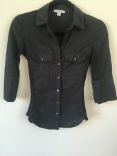 JAMES PERSE button Side Panel Shirt  top extra small 0 Dark Green AUTHENTIC