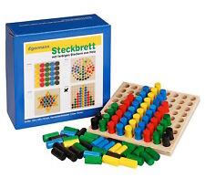 Steckspiel Steckbrett Holzsteckspiel REIHE 12 x 12 Steckspiele von Egermann